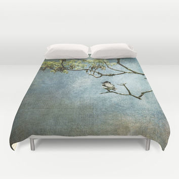 Lucky Bird Duvet Cover by Jai Johnson