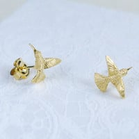 Flying Hummingbird Studs Earrings