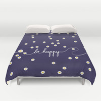 HAPPY DAISY  Duvet Cover by Monika Strigel