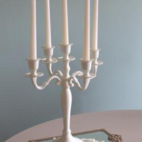 Cream 5-arm candelabra - Melody Maison