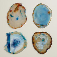 Blue Agate Coasters, Set of 4 - World Market