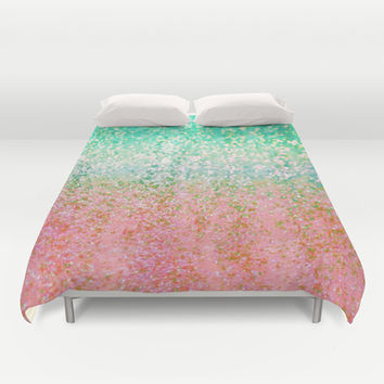 Summer Rain Merge Duvet Cover by Lisa Argyropoulos | Society6