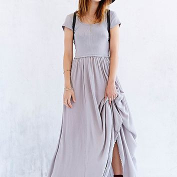 Ecote Tumbleweed Knit-Mix Maxi Dress