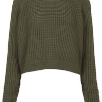 Fisherman Cropped Sweater