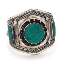 Vanessa Mooney Estelle Malachite Cuff Bracelet