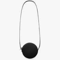 Circular leather bag
