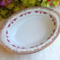 2 Beautiful Vintage Noritake Porcelain Serving Bowls ~ Rose Swags ~ Scrolls