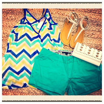 Chevron Bliss top - BOMSHELL BOUTIQUE