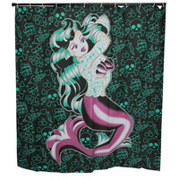 Sourpuss Marina Kai Shower Curtain