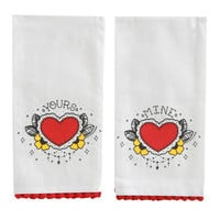 Sourpuss Yours Mine Tea Towel Set