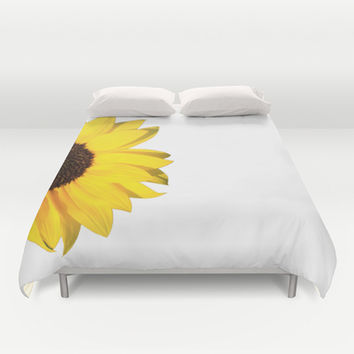 yellow & white summer Duvet Cover by Steffi ~ findsFUNDSTUECKE