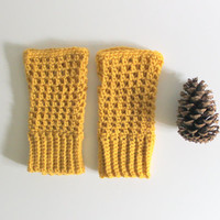 Fingerless Mittens, Crochet Mittens, Fall Accessories