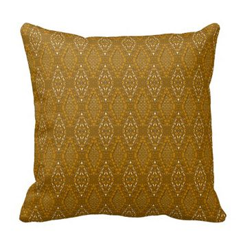 Pave Diamonds Topaz Gold Throw Pillow