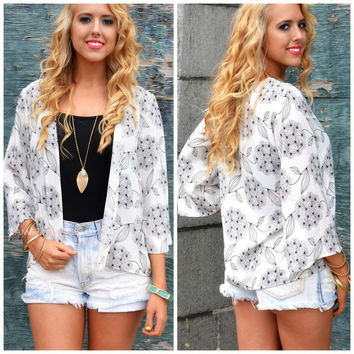 Summer Wish Ivory Oriental Cardigan