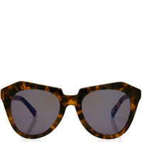 Karen Walker Tortoiseshell Angular Frame Number One Sunglasses | Eyewear | Liberty.co.uk