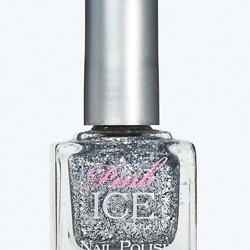 Pink Ice Nail Polish in Glitter