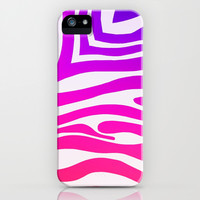 Colorful Zebra Print iPhone & iPod Case by KCavender Designs