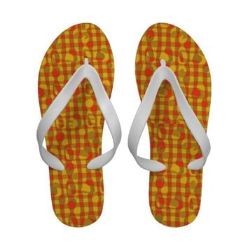"""Africa"" Abstract Art Flip Flops"