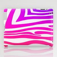 Colorful Zebra Print iPad Case by KCavender Designs
