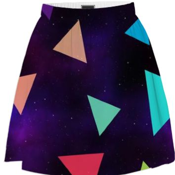 Triangle Space Skirt created by duckyb | Print All Over Me