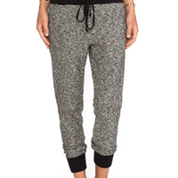 Enza Costa Lounge Pant in Black