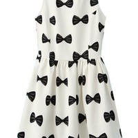 Bowknot Sleeveless A-line Dress