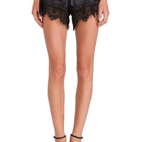 Alexis X REVOLVE Gozo Crochet Trimmed Shorts in Black