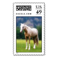 Palomino Dream Horse Postage Stamps