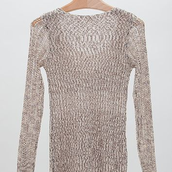 Gimmicks by BKE Open Weave Sweater