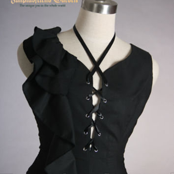 Elegant Gothic Bias Dark Princess Dress*Lady 65 Instant Shipping - fanplusfriend