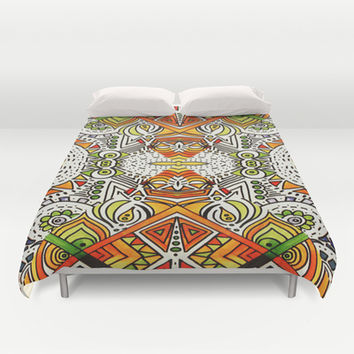 Seeing Tribe Duvet Cover by DuckyB (Brandi)