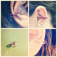 Bow Ear Cuff by AdoraBelle1 on Etsy