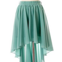 Asymmetric Waterfall Skirt in Mint - Retro, Indie and Unique Fashion