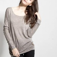 Gray Sweater - Long-Sleeve Marbled Grey Sweater with | UsTrendy