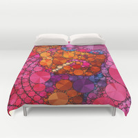 Pink Pop Duvet Cover by Amy Anderson