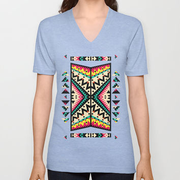 Tribal V-neck T-shirt by Ornaart