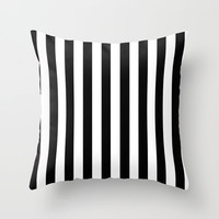 STRIPES Black and White Throw Pillow by mysticdragon