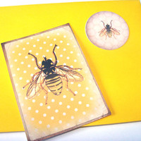 HoneyBee Flat Note Cards With Envelopes And Stickers Set of 4