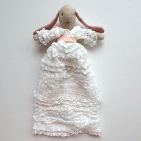 Baby Bunny Dressed In Christening Gown