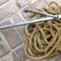 Antique Anchor 50 Feet of Vintage Rope by honeystreasures on Etsy