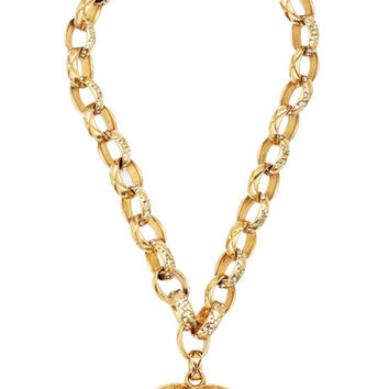 Vintage Chanel Crystal Chain CC Necklace From What Goes Around Comes Around by Vintage Chanel from What Goes Around Comes Around - Moda Operandi