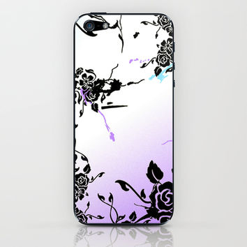 Punkoco Floral Blues iPhone & iPod Skin by LOVEDART
