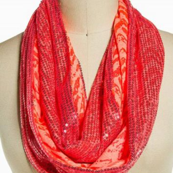 BURNOUT SEQUIN ETERNITY SCARF