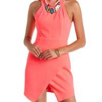 Racer Front Envelope Skirt Neon Dress