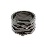 REPOSSI | 8 Row Antifer Black Cataphoresis Ring | Browns fashion & designer clothes & clothing