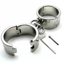 Steel Metal Wrist Cuffs Heavy Handcuffs Restraints (Large) A