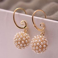 Dandelion Pearl Statement Earrings