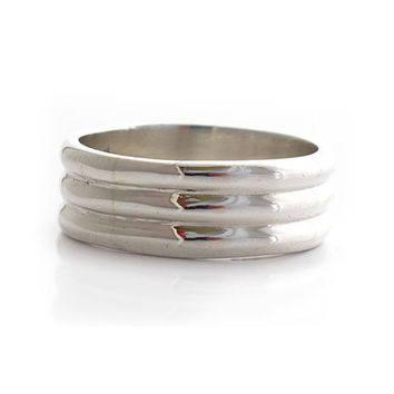 "Sterling Silver Rings | ""Argolla en Tres"" 