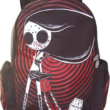 """Tokyo Nightmare"" Back Pack by Akumu Ink (Black/Red)"