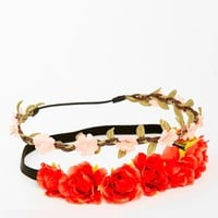 New look 2 Pack Mini Rose Bud Garland